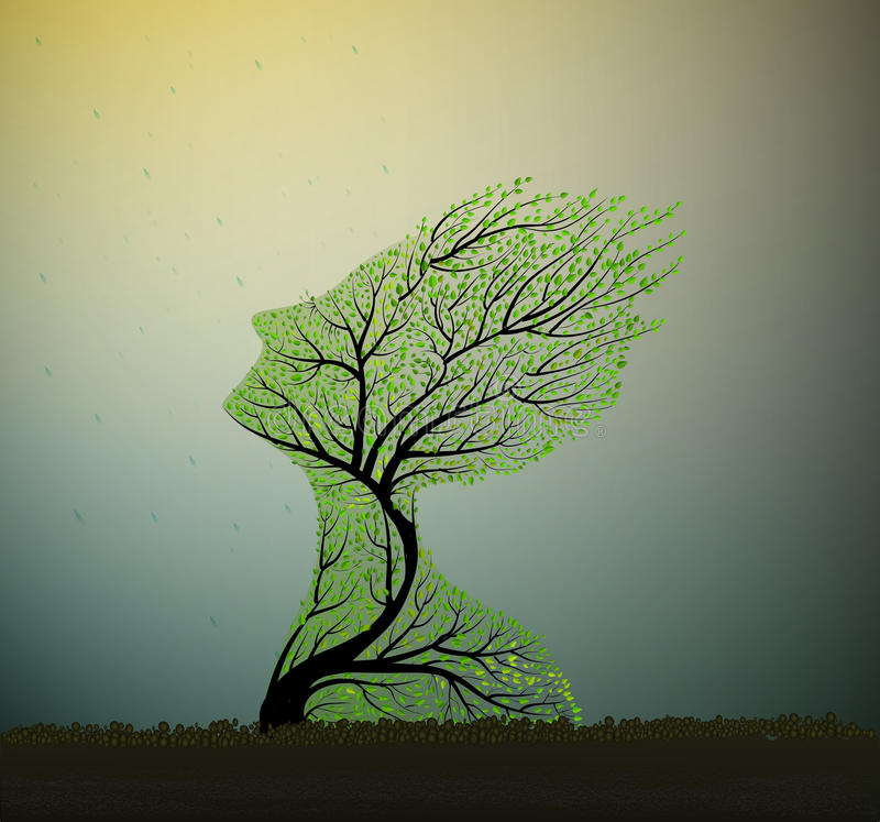 Tree soul, vector royalty free illustration