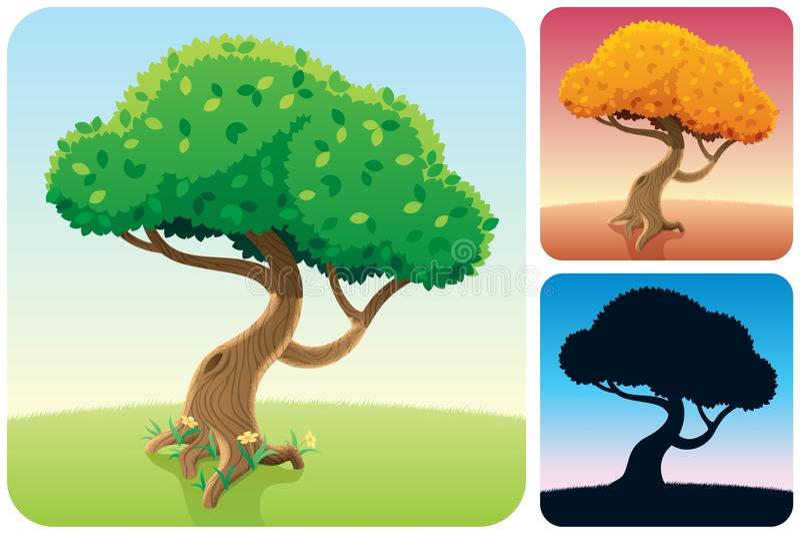 Download Tree Square Landscapes stock vector. Illustration of background - 24070619