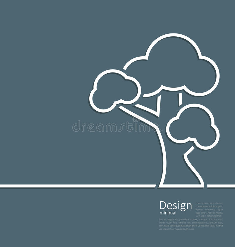 Tree Standing Alone Symbol Design Webpage Logo Template Stock