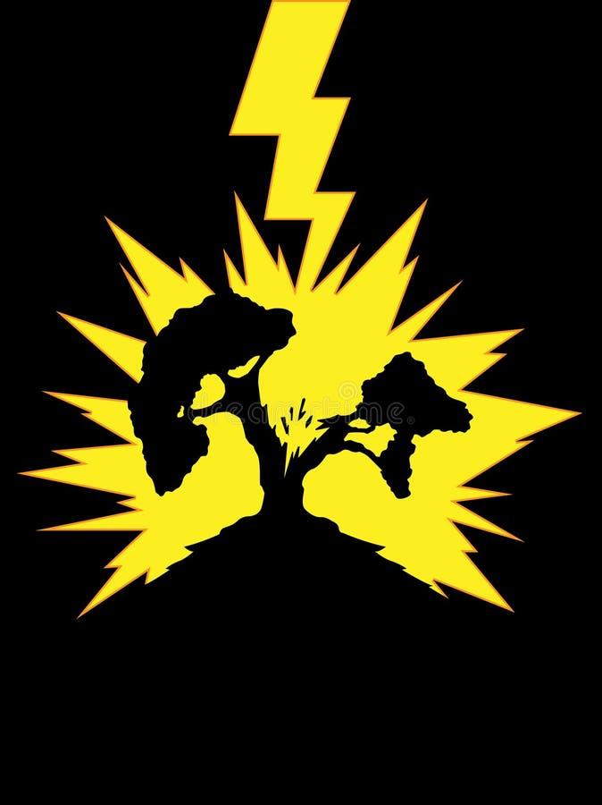 Free Tree Struck By Lightning Royalty Free Stock Image - 27907896