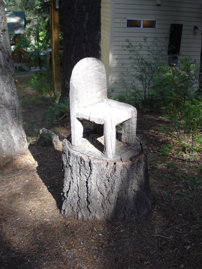 Download Tree Stump Chair With Sunlight Stock Image   Image: 52343117