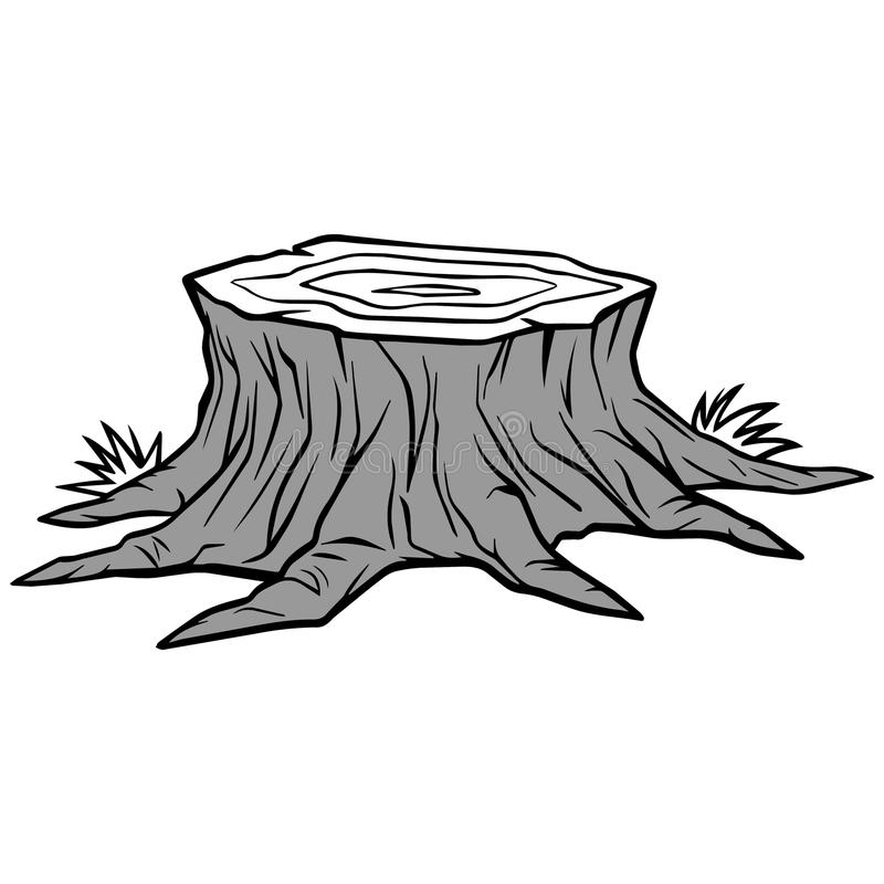 Free Tree Stump Removal Illustration Stock Photography - 84878562