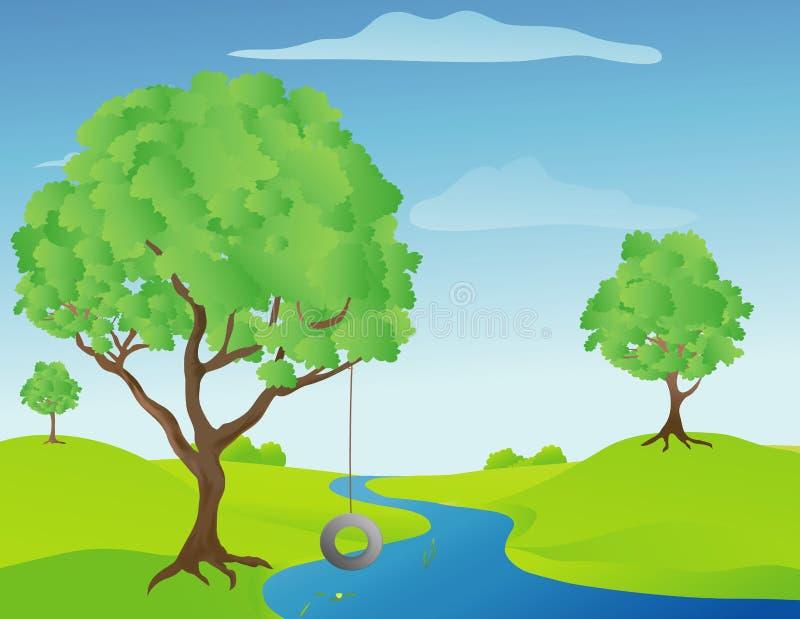 Tree Swing royalty free illustration