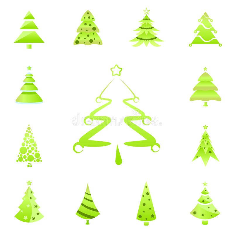 Tree symbols stock illustration