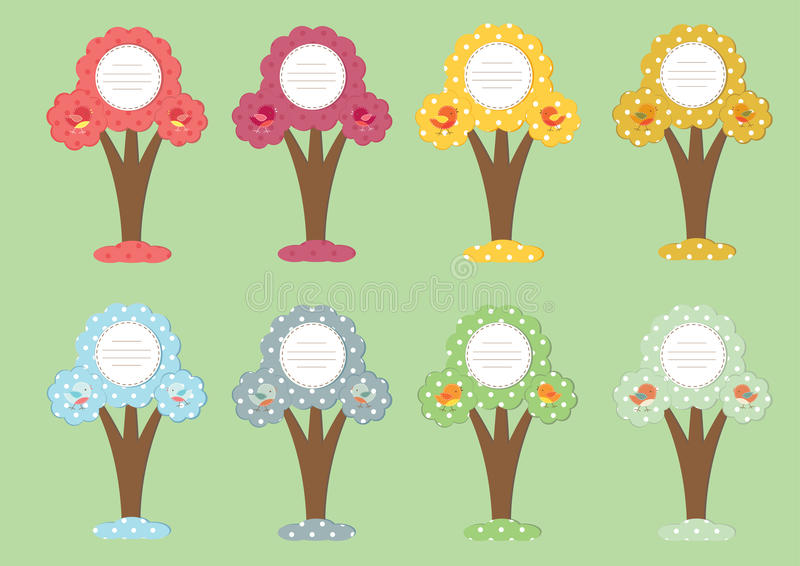 Download Tree templates stock vector. Image of colorful, element - 26488888