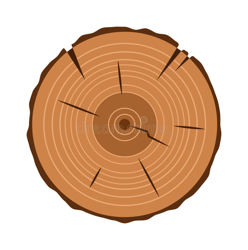 Free Tree Trunk Cross Section, On White, Clipping Path Included Royalty Free Stock Photos - 70466898