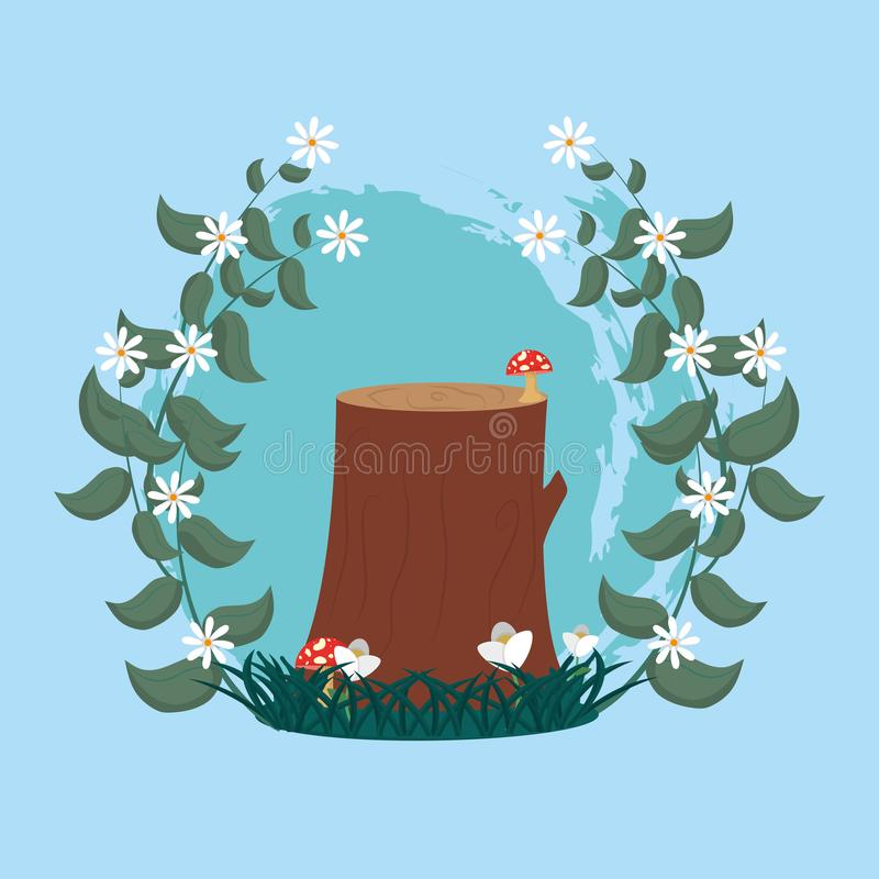 Tree trunk cutted. Vector illustration graphic design royalty free illustration
