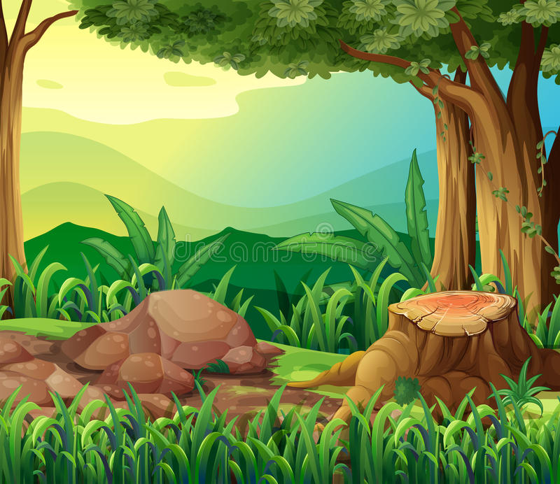 The tree trunk. Illustration of the tree trunk royalty free illustration