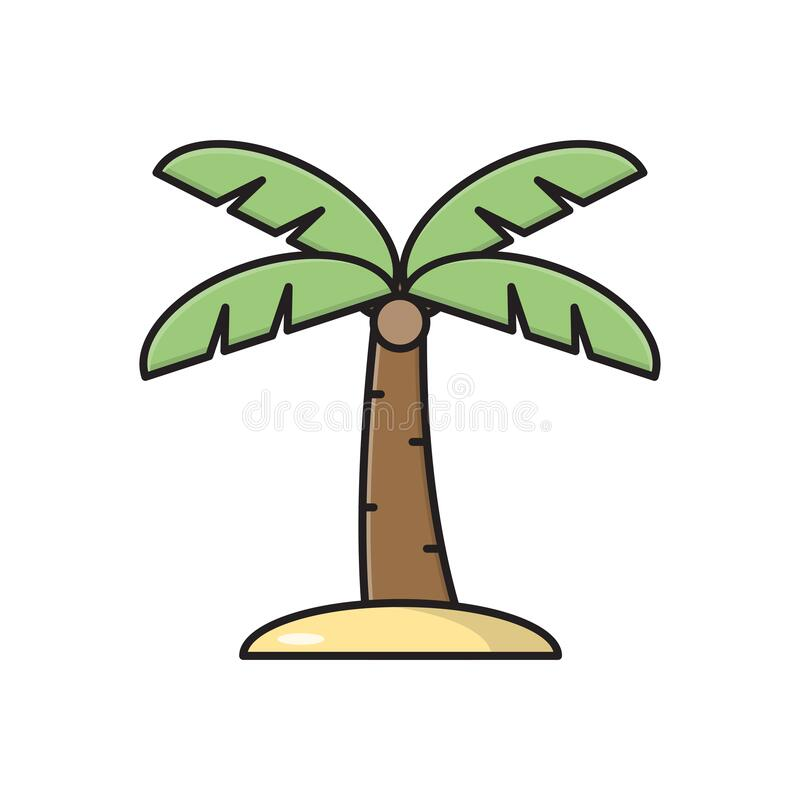 Free Tree Vector Flat Color Icon Stock Image - 179901401