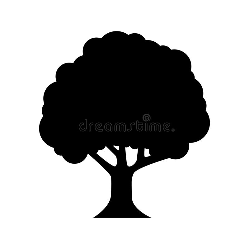 Tree vector icon. forest illustration symbol. For web. stock illustration