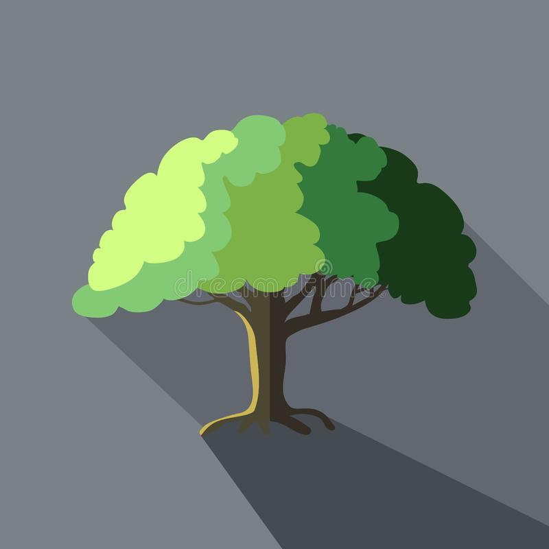 Tree vector illustration in flat design icon style with long shadows stock photos