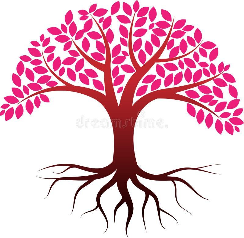 Tree. Vector illustration of spring tree logo