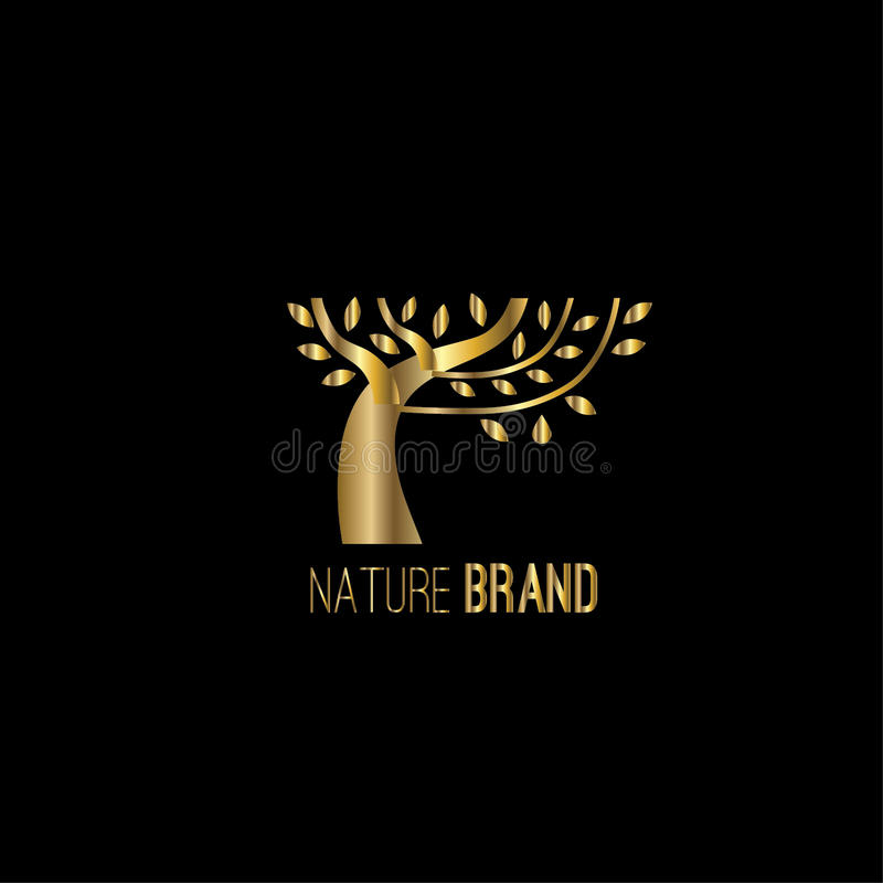 Tree vector logo design vector illustration