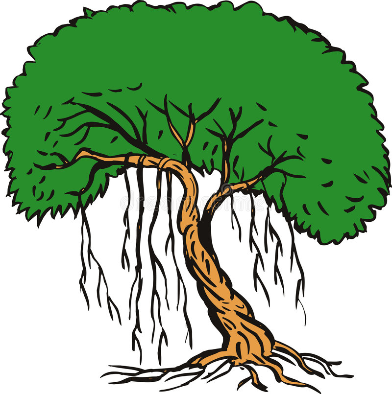 Tree with vines royalty free illustration