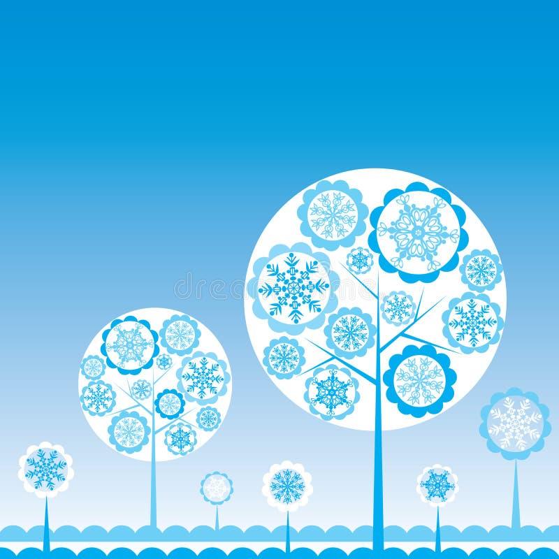 Tree winter background, vector. Illustration vector illustration