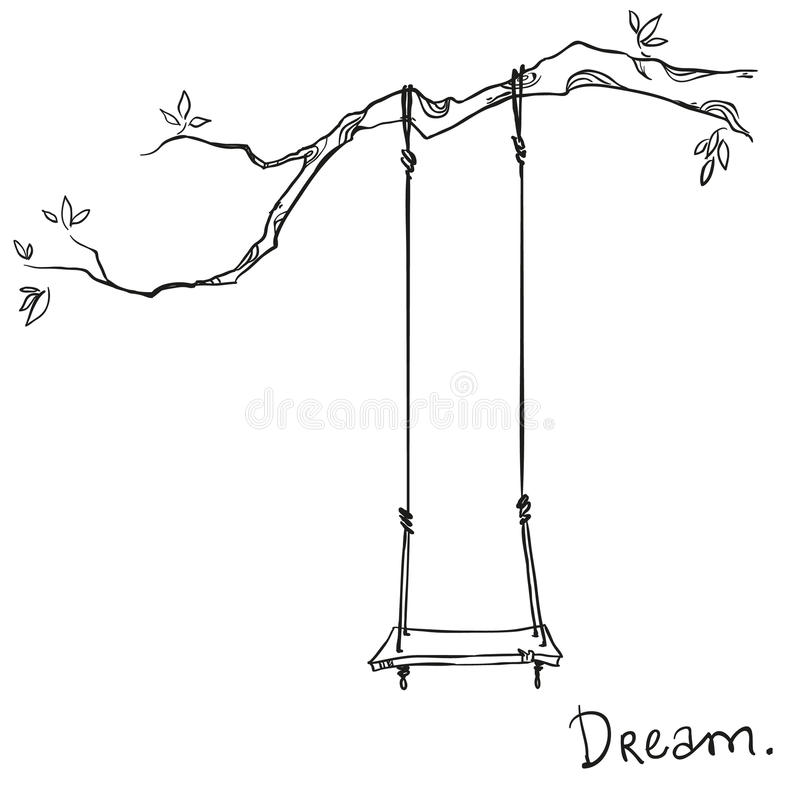 Free Tree With A Swing Royalty Free Stock Image - 50195296