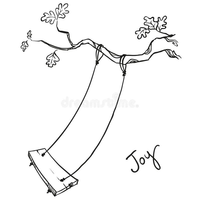 Free Tree With A Swing Royalty Free Stock Photography - 50195317