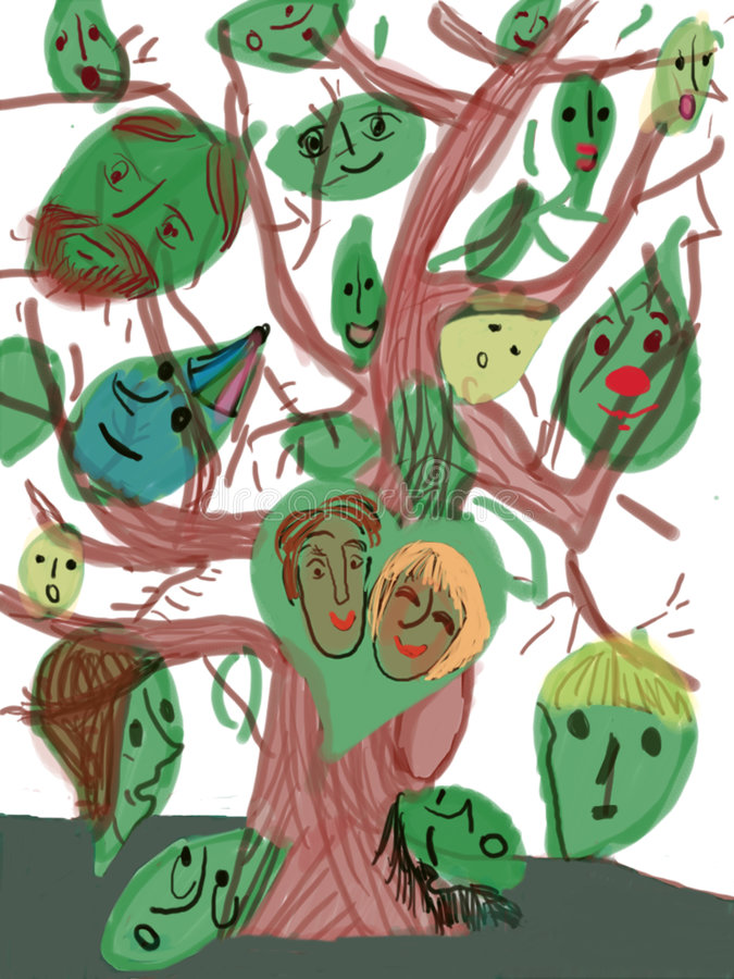 Free Tree With Faces Stock Photography - 2803602