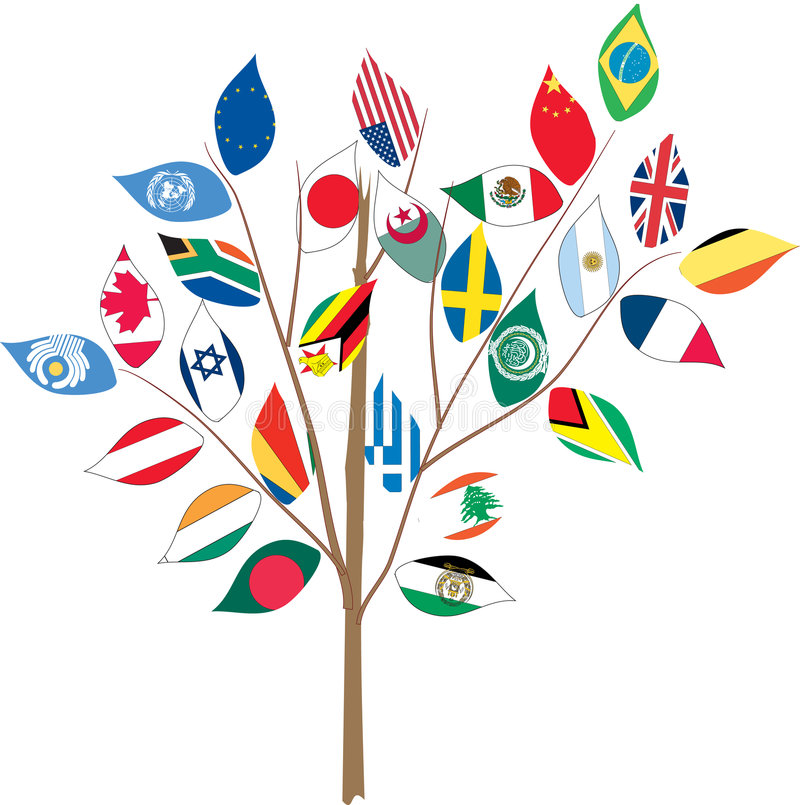 Free Tree With Various Flags. Stock Photography - 5131342