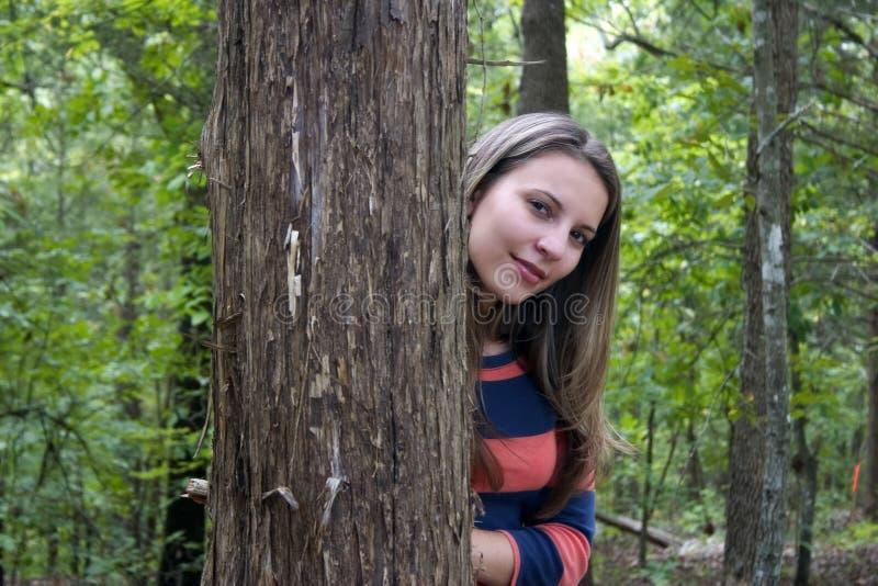 Tree Woman royalty free stock photo