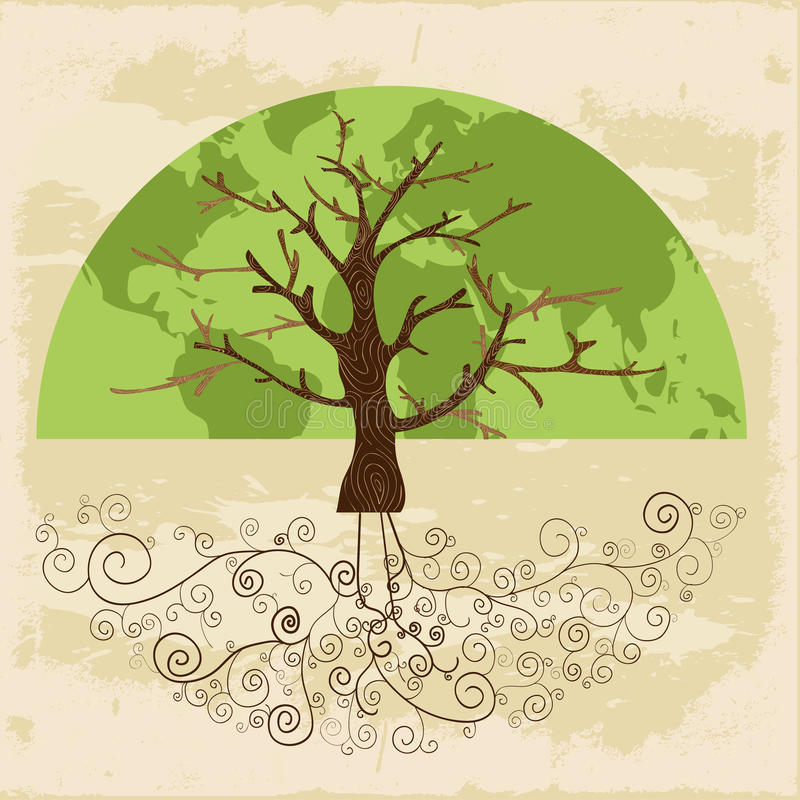 Tree world concept royalty free stock photos