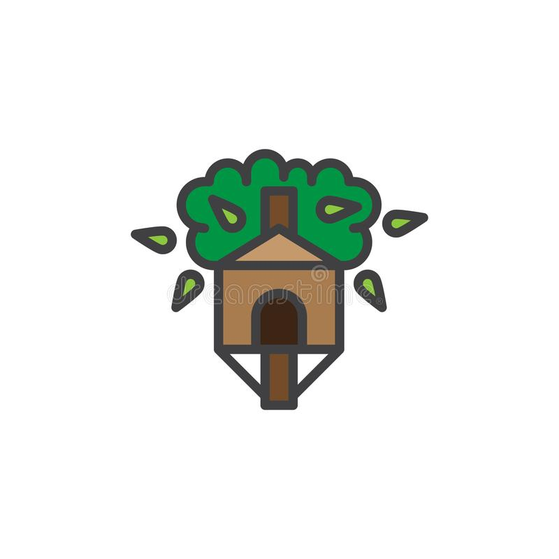 Treehouse filled outline icon royalty free illustration