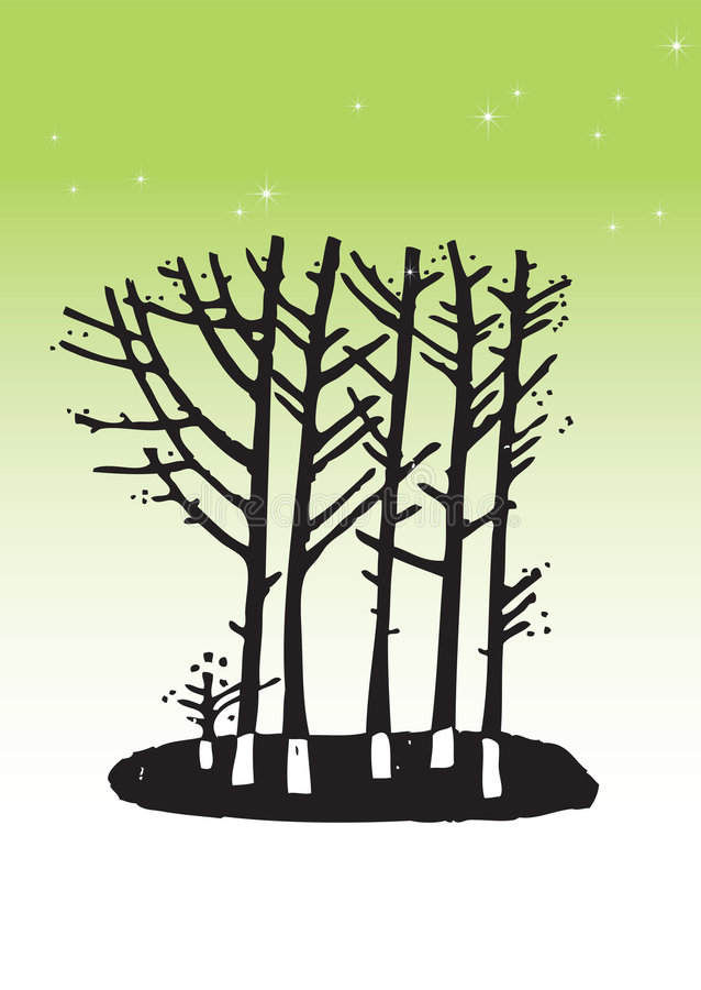 Treeillustration arkivbild
