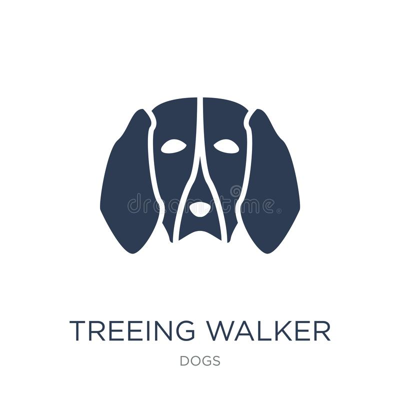 Treeing Walker Coonhound dog icon. Trendy flat vector Treeing Wa royalty free illustration