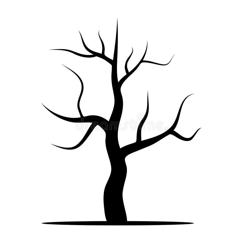 Treen without lämnar vektor illustrationer