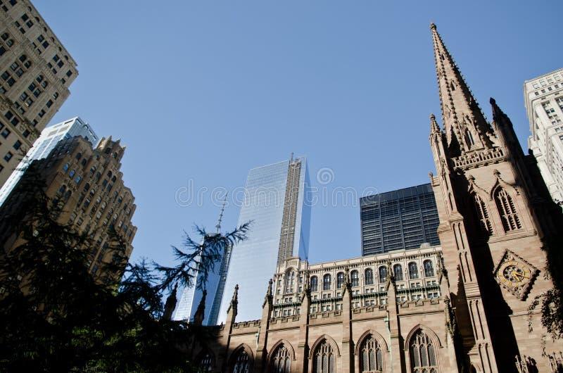 Treenighetkyrka i New York arkivfoton