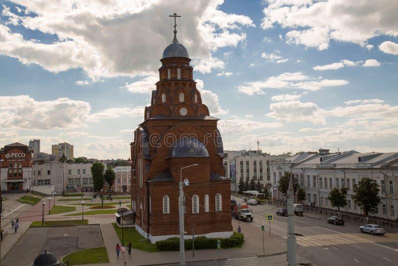 Treenighetkyrka Vladimir Russia May 2017 arkivfoto