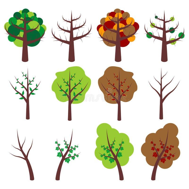 Trees_01 illustration stock