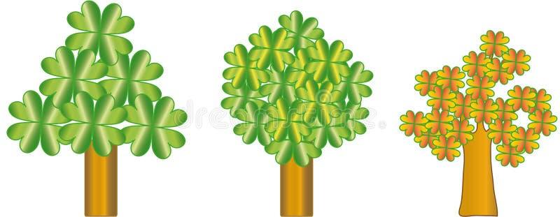 trees stock illustrationer