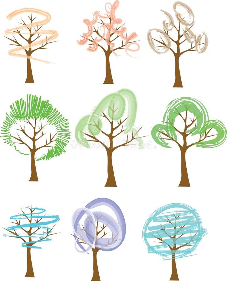Trees stock illustration