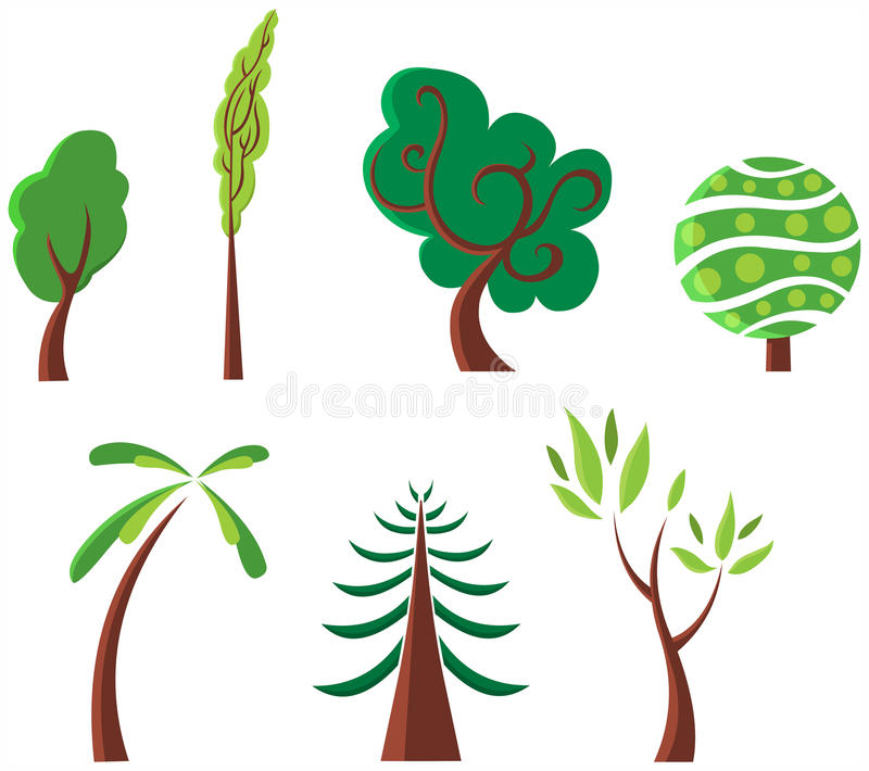 Download Trees stock vector. Image of backgrounds, fruit, drawing - 14578250