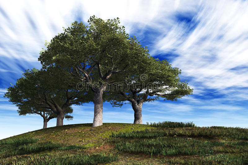 Download Trees stock illustration. Image of clouds, holiday, urban - 18641772