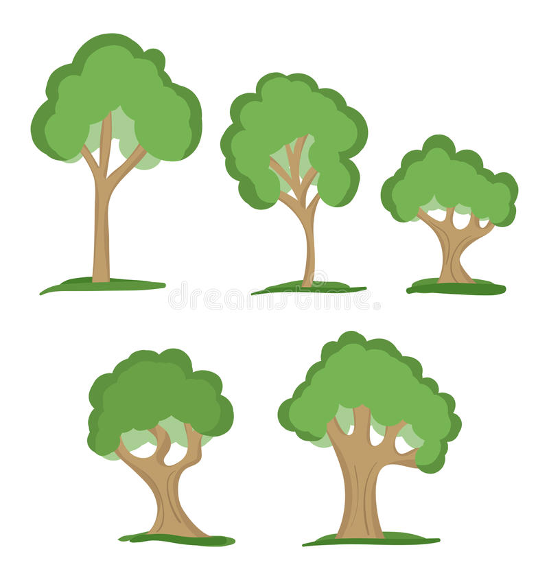 Download Trees stock vector. Image of illustration, botany, nature - 26483973