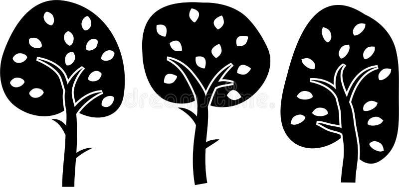 trees vektor illustrationer