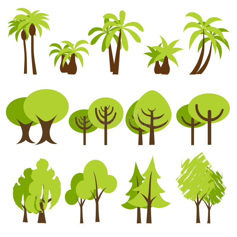 Download Trees stock vector. Image of element, grass, forest, branch - 8378241