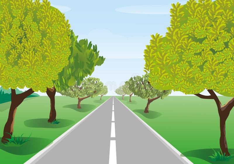 Download Trees Along The Road Stock Photo - Image: 23870420