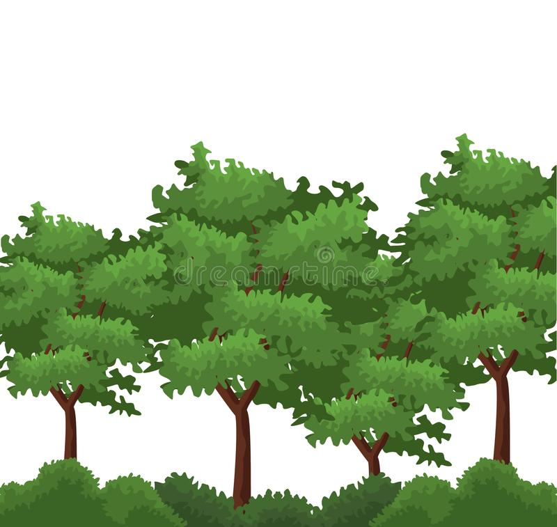 Free Trees And Bushes Stock Image - 113444001