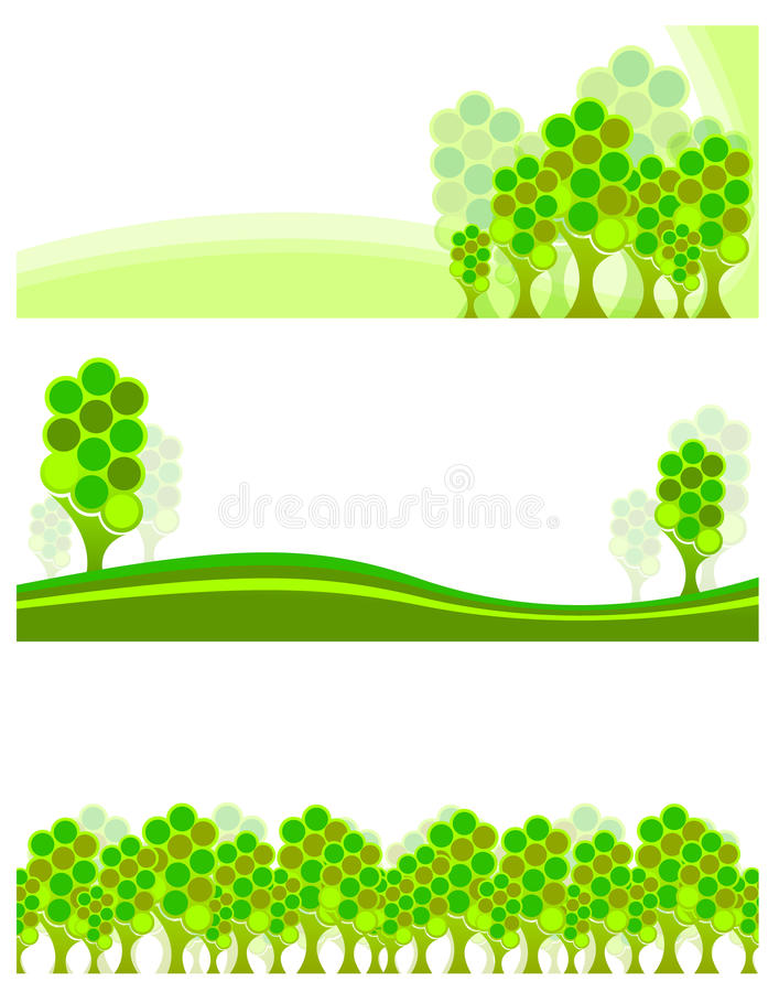 Trees banner royalty free illustration