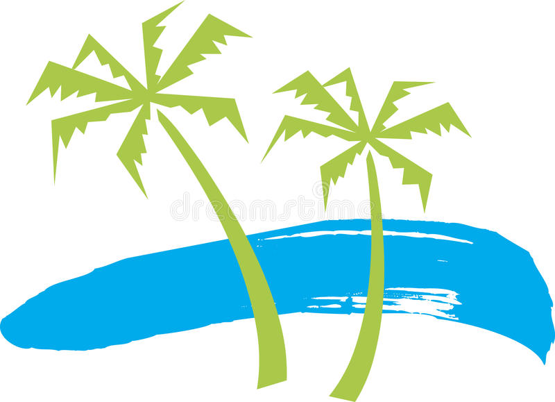 Trees and beach. Has been created as vector vector illustration