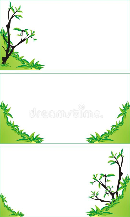 Trees and bushes. Background for business cards royalty free stock photography