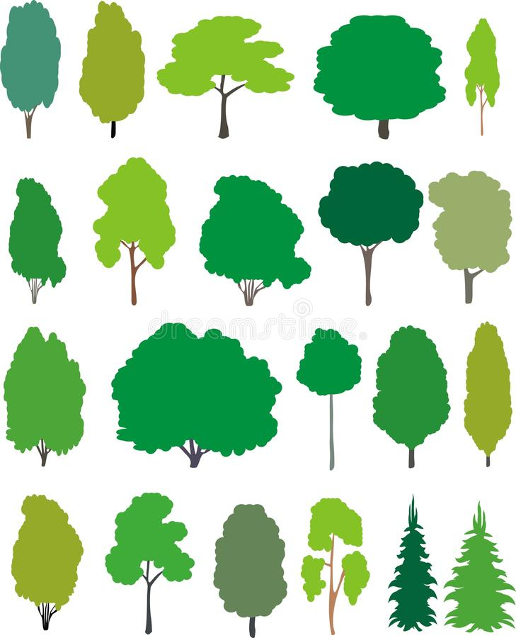 Free Trees - Cartoon Set. Stock Images - 19636074