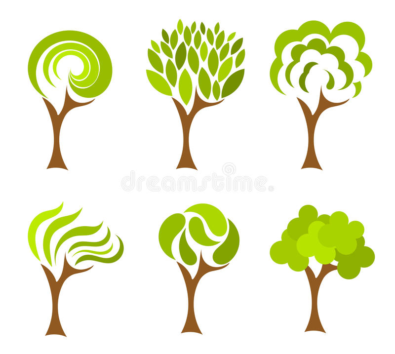 Download Trees collection stock vector. Image of graphic, design - 26101719