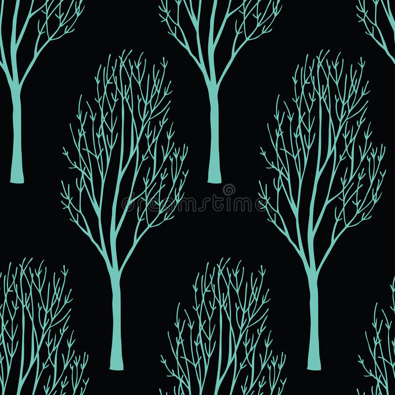 Download Trees On The Dark Background Stock Vector - Image: 36982422