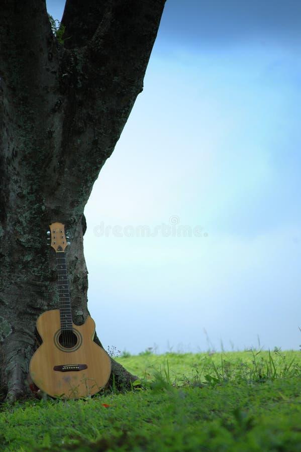 trees för gitarr n royaltyfri bild