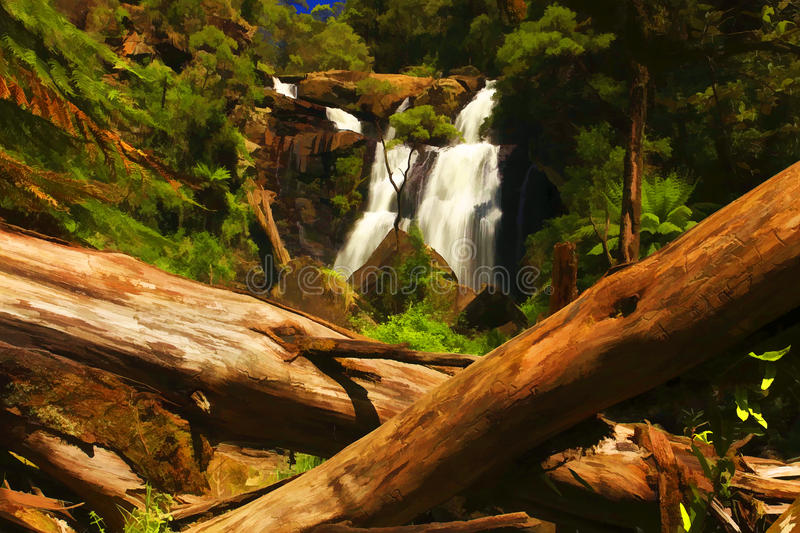Trees and Falls royalty free stock photography