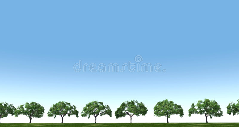 Download Trees in the field stock illustration. Illustration of cloudy - 1724984